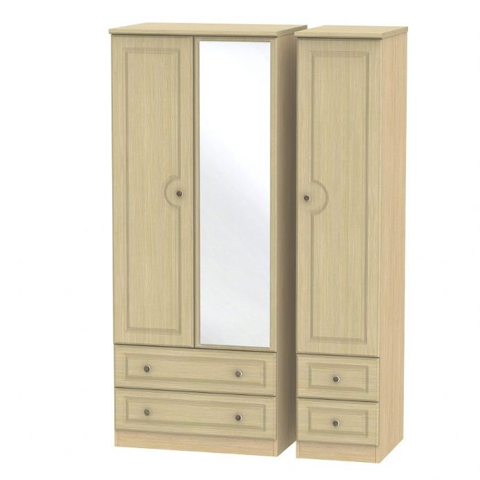 Pembroke Triple 2 Drawer Mirror + Drawer Robe